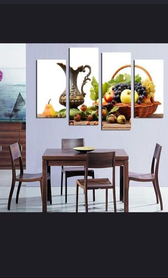 Quadro Mesa De Frutas 120x60 Qualidade Fotográfica 4k