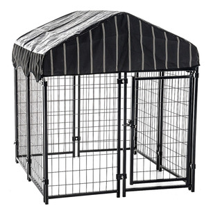Jaula Casa Corral Para Perro Cachorros Mascotas 121x132cm