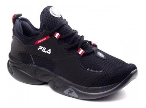 Imagem 1 de 3 de Tenis Fila Men Move On Black/red/white Ref. 968859