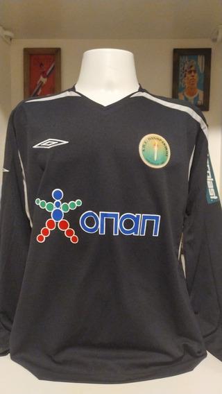 Camisa Futebol Liga Grega Panthrakikos Mangas Longas