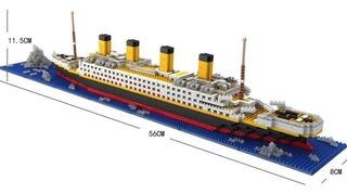 Titanic Para Armar Bloques 1860pcs 3d Barco