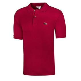 Playera Polo Deportiva Lacoste Hombre Logo Vino Dtt 32918