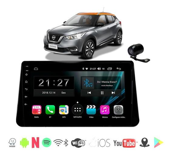 Multimidia Nissan Kicks Android 10 Polegadas 4k Wifi Cam Ré