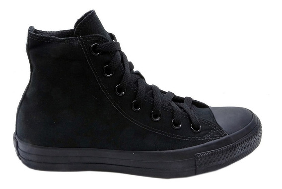 Tênis Converse All Star Ct As Monochrome Hi Preto Ct00160001