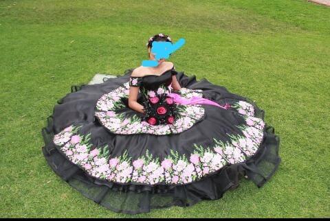 Elegante Vestido Bordado De 15 Años