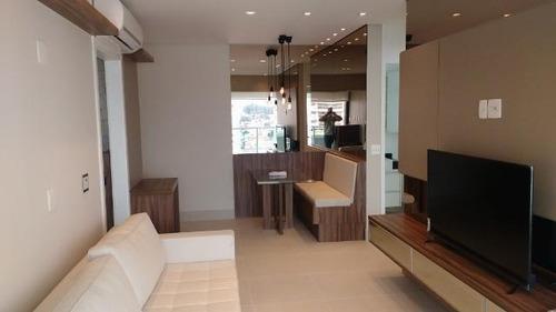Imagem 1 de 30 de Apartamento Com 1 Dormitório Para Alugar, 55 M² Por R$ 3.400,00/mês - Jardim Anália Franco - São Paulo/sp - Ap5126
