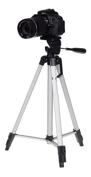 Tripé Pequeno Mede 1,10m P/ Canon T6i Ef-s 18-55mm Is Stm