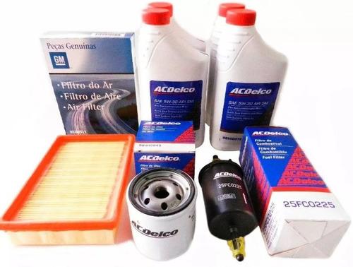 Imagem 1 de 1 de Kit Troca De Óleo 5w30 E Filtros Corsa 1.4 Maxx  Gm Ac Delco