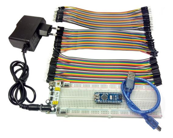 Arduino Nano + Mb102 + Fonte 12v + Jumpers + Módulo Mb102