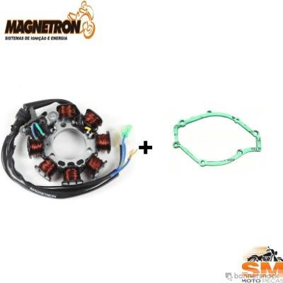 Estator Magneto Ybr 125/factor 125/xtz 125 2006/2010 + Junta