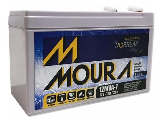 Bateria 12v 7ah Moura Nobreak Lacerda Orion Apc Tsshara Sms
