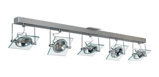 Plafon Moderno 5 Luces Vidrio Ar111 Apto Led Cuotas