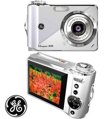 Camera Digital Ge A830 Prata Ge
