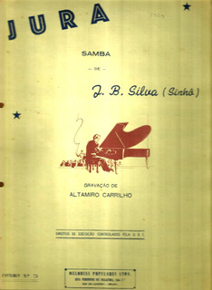 Partitura 1956 - Jura - J.b. Da Silva Sinhô