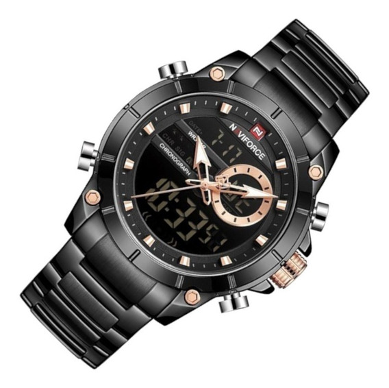 Relógio Masculino Naviforce 9163 Preto
