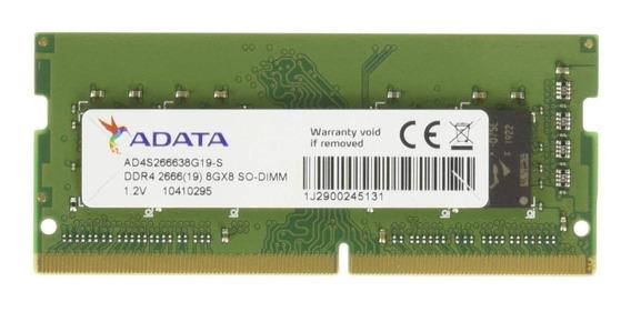 Memória RAM 8GB 1x8GB Adata AD4S266638G19-S