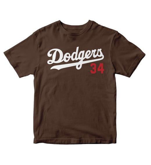 Playera Los Angeles Dodgers Cafe Logo 2 Beisbol