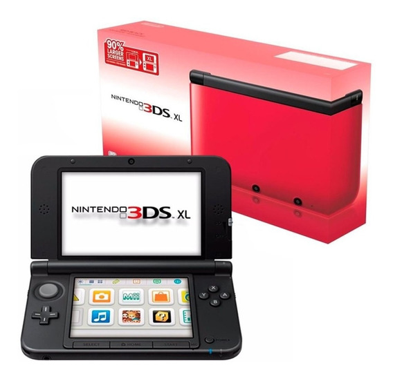 Vídeo Game Portátil Nintendo 3ds Xl Vermelho Preto Novo