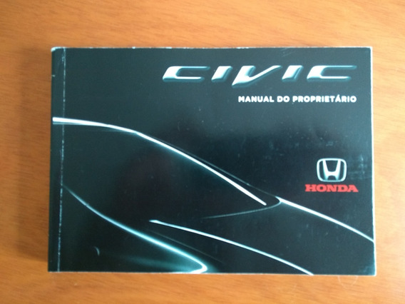 Manual Do Proprietário Honda Civic 2013