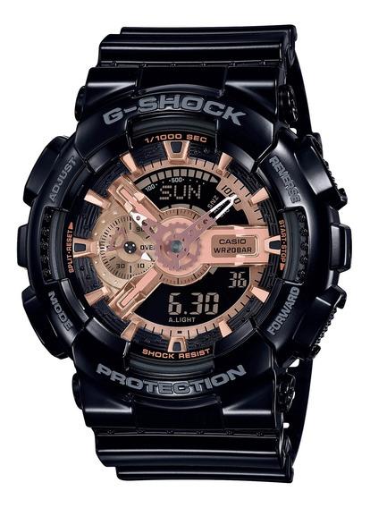 Relógio Casio G-shock Masculino Preto Rose Ga-110mmc-1adr
