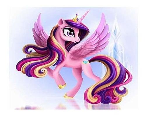 Imagen 1 de 6 de Candyl Pintura Por Numero Unicornio Pony Pintura Al Oleo D