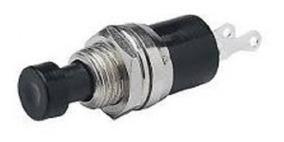 Chave Push Button N/a Pbs-110 2 Terminais S/ Trava Preta