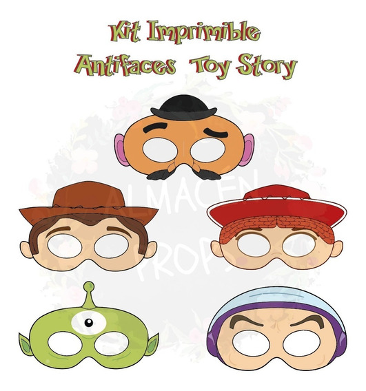 Kit Imprimible Antifaces Toy Story Antifaz Woody
