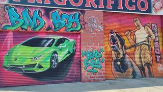 Graffiti Murales Persianas No Plotter Letrista Pizarras