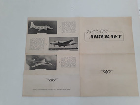 Folheto Propaganda Brochura Jato Avião Nave Vickers Aircraft