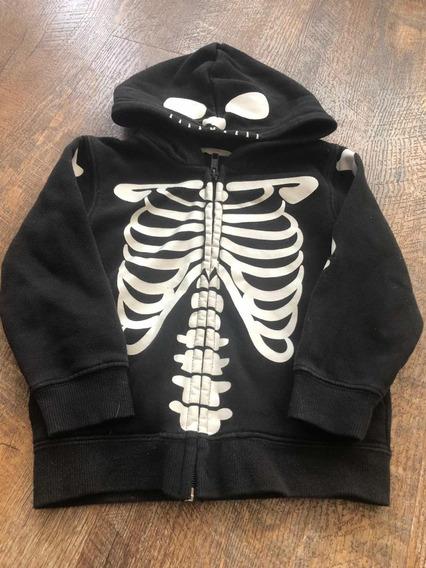 Chamarra Esqueleto Halloween H&m