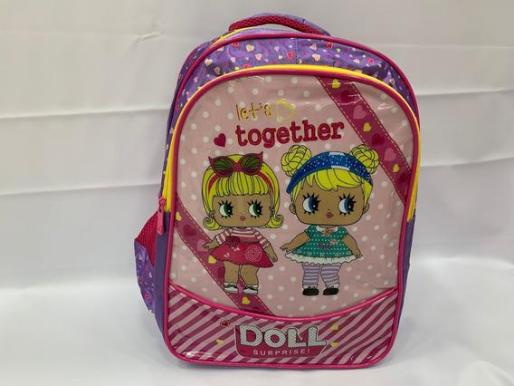 Mochila De Costas Infantil Lol Roxo Escolar 2019 G 3d
