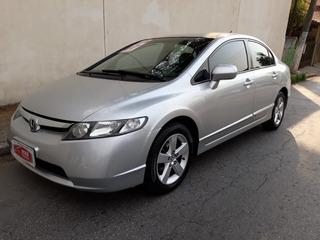Honda Civic Lxs 1.8 2007 Flex Prata