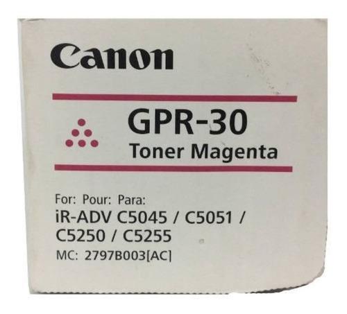 Imagen 1 de 2 de Toner Canon Gpr-30 Magenta Original