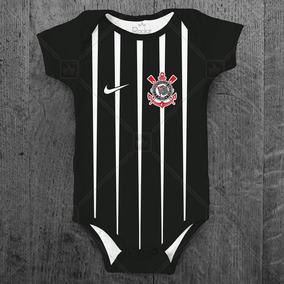 Body Corinthians Infantil Futebol Personalizado C/ Nome Bebê