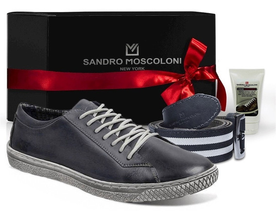 Kit Sapatênis Masculino Sandro Moscoloni New Street Jeans+