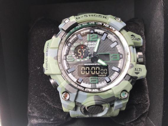 Relógio G-shock Mudmaster Casio Camuflado/ Exército