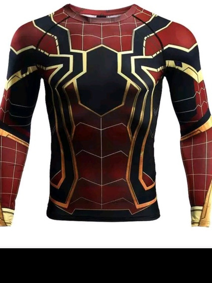 Camisa De Spiderman Algodon Acetato Talla Unica Grande