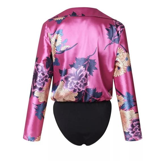 Blusa Body Estampado Rosa