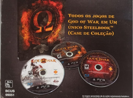 God Of War - Omega Collection + Ascesion - Todos Gow Do Ps3