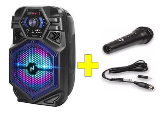 Parlante Noga Bt-800 Karaoke C/bt Usb Fm Control+ Microfono