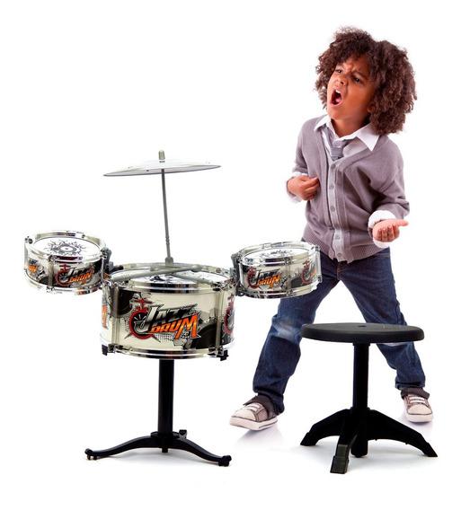 Instrumento Musical De Brinquedo Bateria Infantil