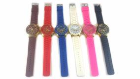 Relógio Feminino Colorido Pulseira Colorida