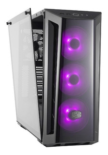 Gabinete Gamer Cooler Master Mb520 Rgb Vidrio Templado 4 Fan