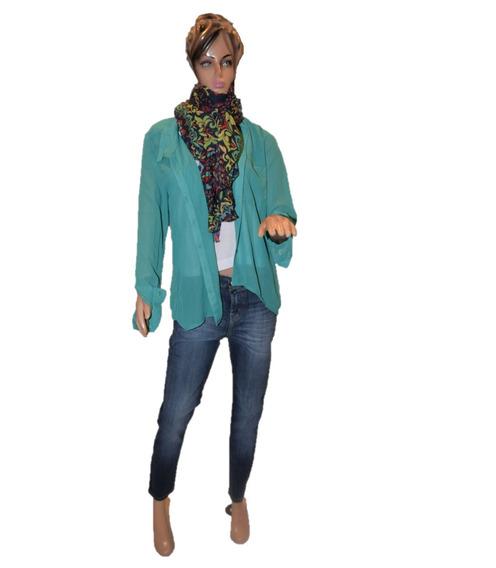 47 Street Camisa De Poliester Color Verde