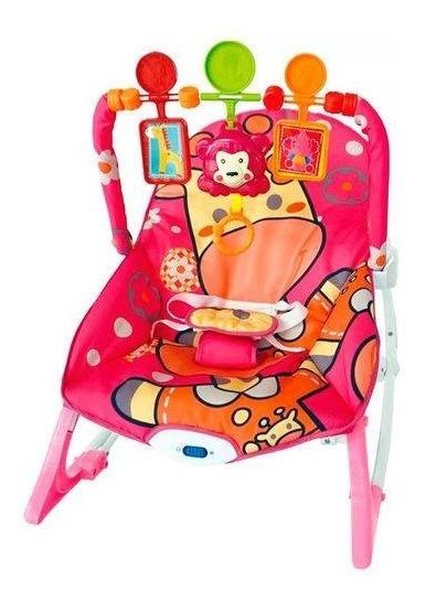 Cadeira De Descanso De Bebe Com Botoes Musicais E De Vibração Até 9kg