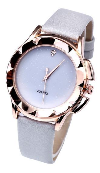 Reloj Casual Simple De Cuarzo Para Mujeres Niñas Gris