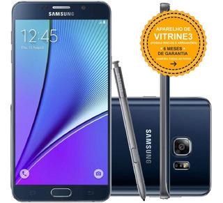 Samsung Galaxy Note 5 N920g 32gb Single 16mp Preto Vitrine 3