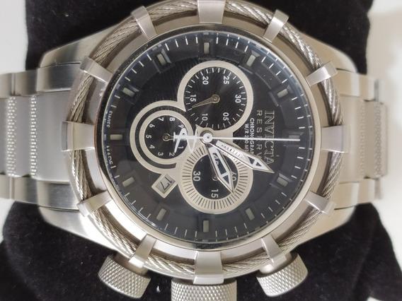 Relógio Masculino Invicta Reserve 1444 Suíço Original Prata