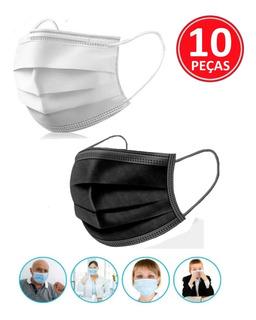 10 Máscaras Esterilizadas Descartável Direto Da Fabrica-nfe
