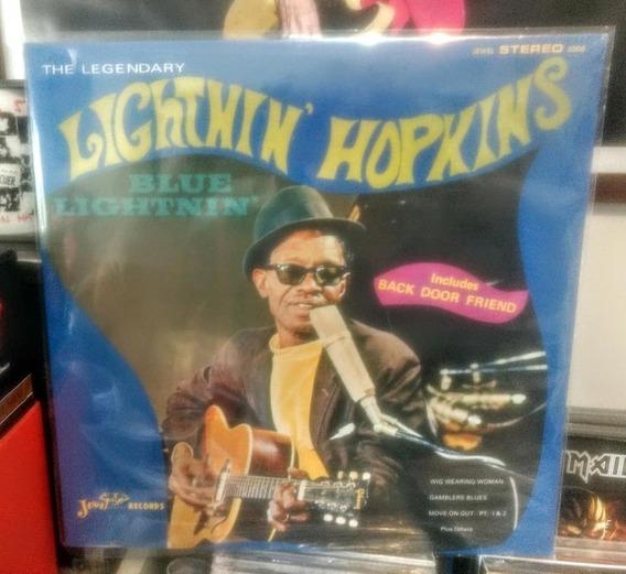 Lp Lightnin Hopkins Blue Litghtnin (novo)